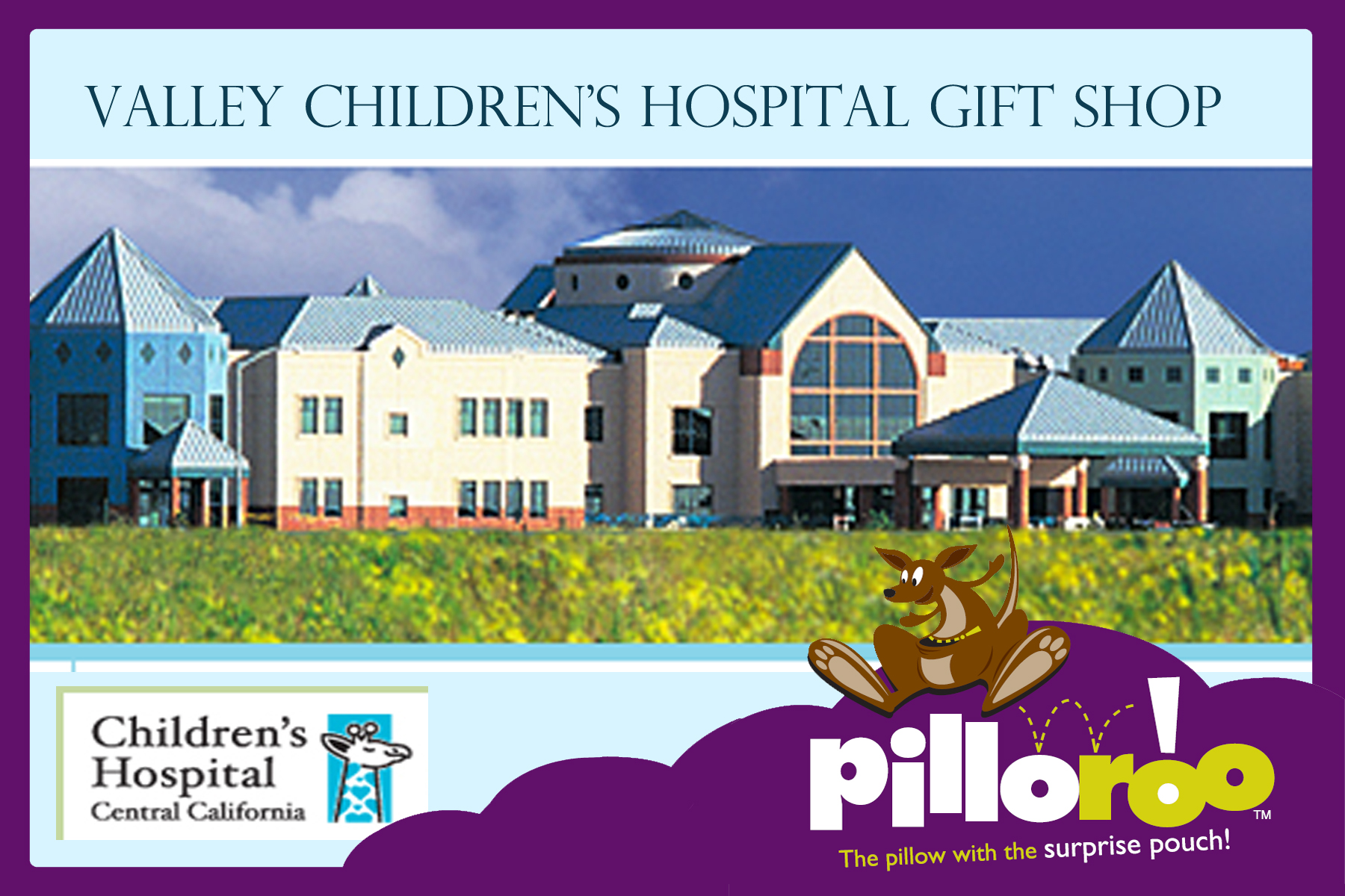 Pilloroo is now in Valley Children's Hospital Gift Shop ...